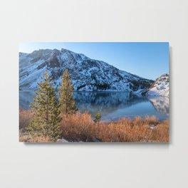Frozen Lake Ellery Metal Print
