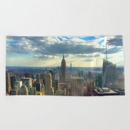 View Of New York City Beach Towel