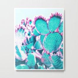 Cactus - watercolor Metal Print