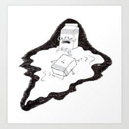 don't cry over spilt milk Art Print