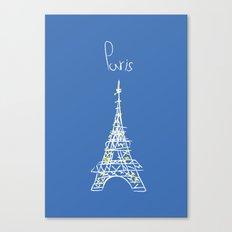 belle à Paris Canvas Print