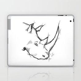 Rhino Handmade Drawing, Made in pencil and ink, Tattoo Sketch, Tattoo Flash, Sketch Laptop & iPad Skin