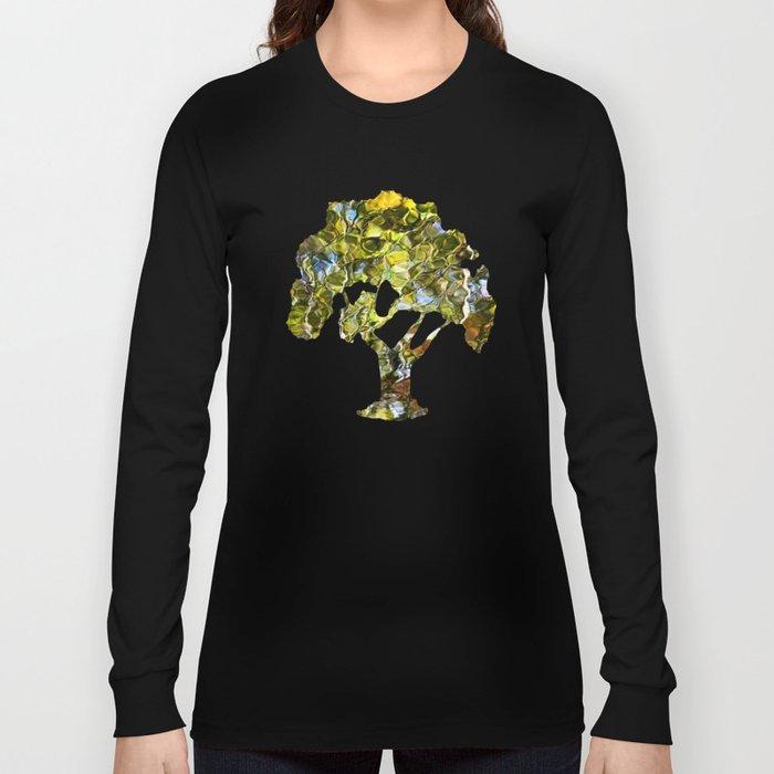 Abstract Tree Reflection Long Sleeve T-shirt