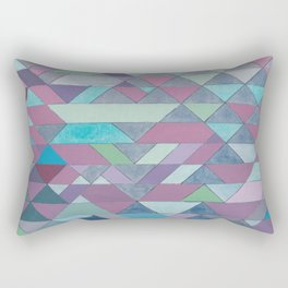 Triangle Pattern no.3 Violet Rectangular Pillow
