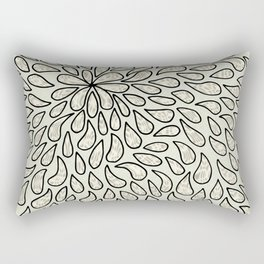 Pearlised Drops - Ivory Rectangular Pillow