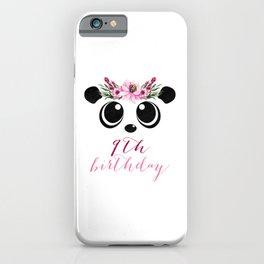Panda Girl 9th Birthday 9 Years Panda Costume Gift iPhone Case
