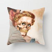 ginger Throw Pillows featuring GINGER by Julia Lillard Art