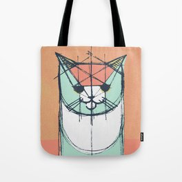 Cubist Cat Study #8 by Friztin Tote Bag