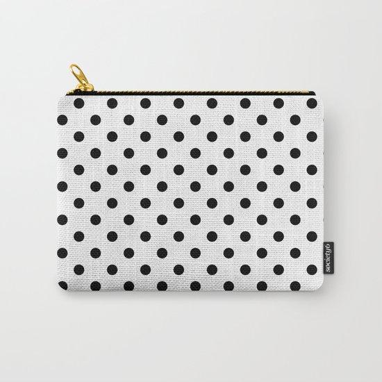 Girls just wanna have dots -Polkadots Polkadot Dot black/white #Society6 Carry-All Pouch