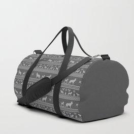 Ugly christmas sweater | German shepherd grey Duffle Bag