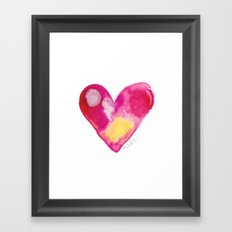 #heART by mekel Framed Art Print