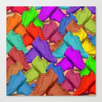 shoes Canvas Prints featuring shoes by ErsanYagiz