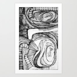 Onions (black and white) Art Print