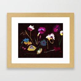 Sparse Flowers #original painting Framed Art Print