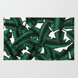 Banana leaves pattern. Rug