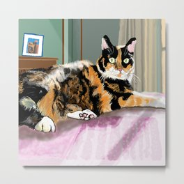 Cali Q Kitten Metal Print