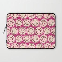 flower block ivory pink Laptop Sleeve