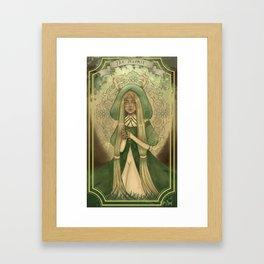 Ladies of Tarot - The Hermit Framed Art Print