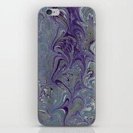 Purple, Blue, & Green Marbled iPhone Skin