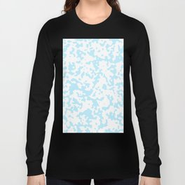 Spots - White and Light Blue Long Sleeve T-shirt