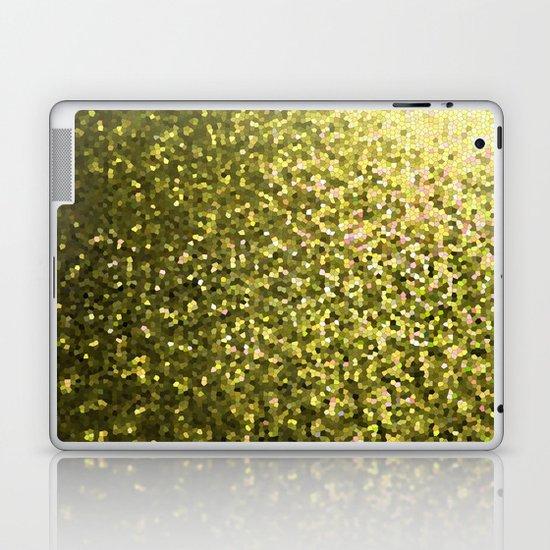 Mosaic Sparkley Texture Gold G188 Laptop & iPad Skin