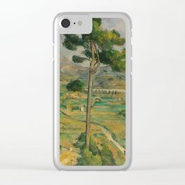 "Paul Cezanne ""Mountain Sainte-Victoire and the Viaduct of the Arc River Valley"" Clear iPhone Case"