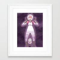 bee and puppycat Framed Art Prints featuring Bee and Puppycat by timehwimeh