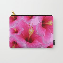 GIRLY TROPICAL PINK HIBISCUS ART Carry-All Pouch