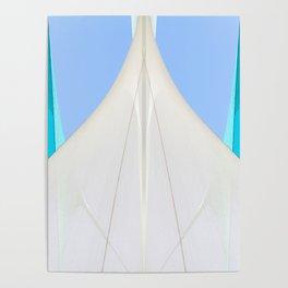 Abstract Sailcloth c2 Poster