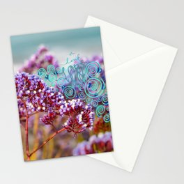 Oh don't worry purple beachy flowers Stationery Cards