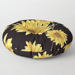 Sunflower Pattern 2 Floor Pillow