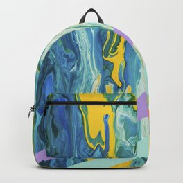 Paint Marble With Pastel Lines Backpack