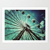 ferris wheel Art Prints featuring Ferris Wheel by Angela Bruno