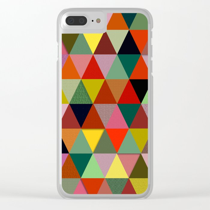 Abstract #234 Clear iPhone Case