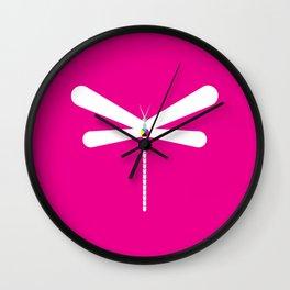 LibelluleMonde Magenta Branding Wall Clock