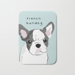 french Bulldog with colour Bath Mat
