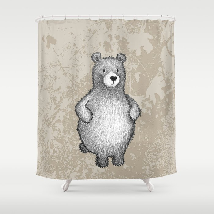 grizzly bear in foliage Shower Curtain