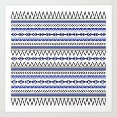 Tribal Blue Art Print