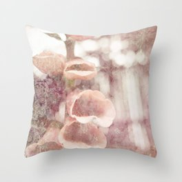 by the garden wall Throw Pillow