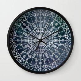 Rosette Window - Slate Wall Clock