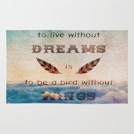 Dreams Are Wings Rug