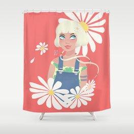 Roll eye girl Shower Curtain
