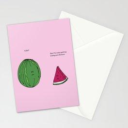 Strawberry Watermelon Cake Stationery Cards