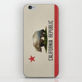 California Grizzly Bear Flag iPhone Skin