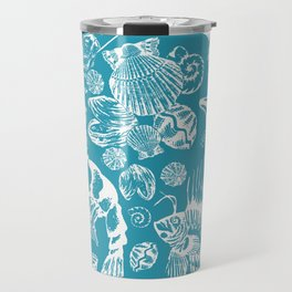 Sea Critters with Blue Background Travel Mug