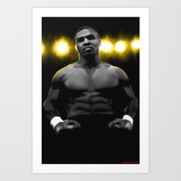 mike tyson Art Prints featuring IRON MIKE TYSON by smARTwork Designs