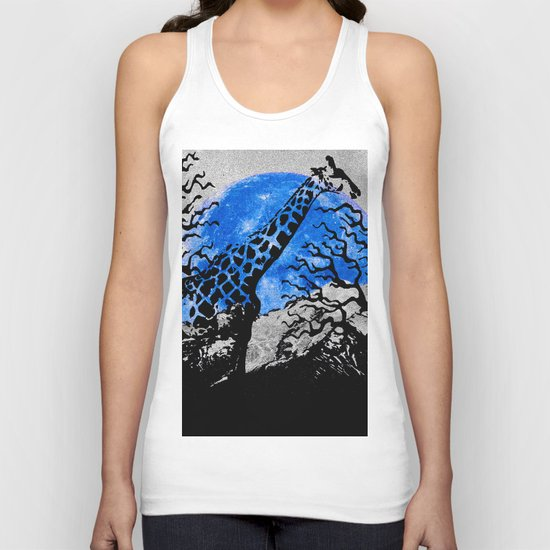 GIRAFFE IN A THICKET Unisex Tank Top