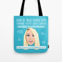 jenna kutcher Tote Bags featuring Jenna Marbles Infographic by Tanita