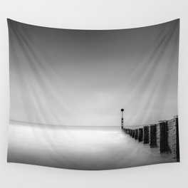 Calm Winters Day Looking out to Sea Wall Tapestry