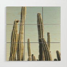 Desert Cactus Wood Wall Art
